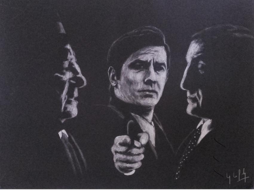 Lino Ventura, Alain Delon, Jean Gabin par lpc